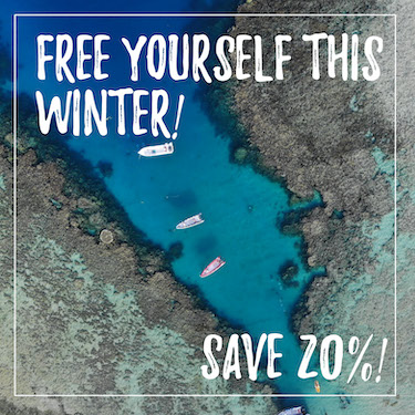 Escape this winter! Save 20% - Offer Extended