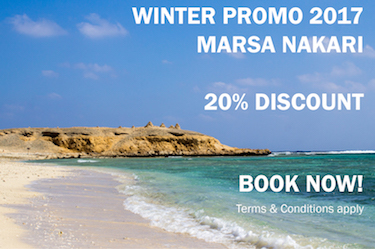 Marsa Nakari reopening early - save 20% at the end of March!